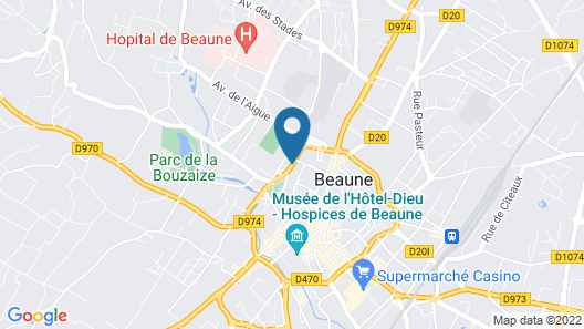 Hostellerie Cèdre & Spa • Beaune Map