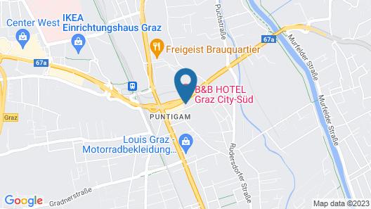 B&B Hotel Graz City-Süd  Map