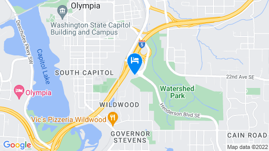 Hilton Garden Inn Olympia Map