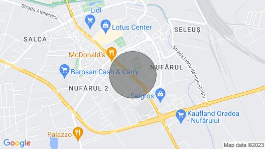 Penthouse Apartament Nufarul Oradea Map