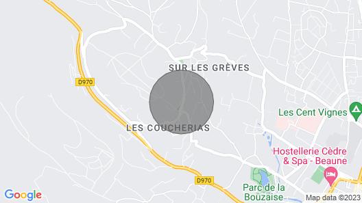 Authentique et Superbe Propriété Située à Beaune Avec Piscine, Tennis, Pétanque Map