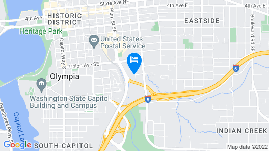 Quality Inn Olympia Near State Capital Map