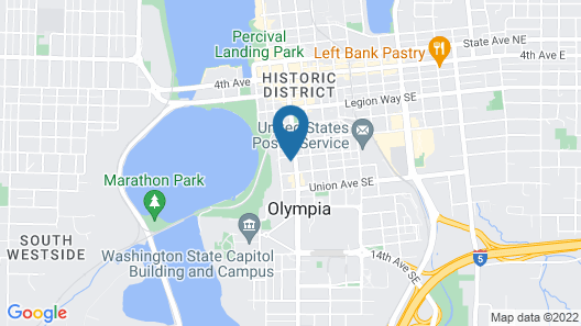 Olympia Inn Map