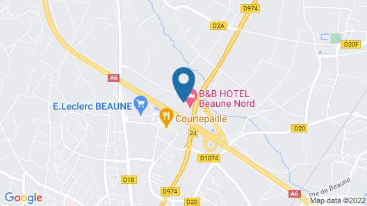 B&B Hotel Beaune Nord Map