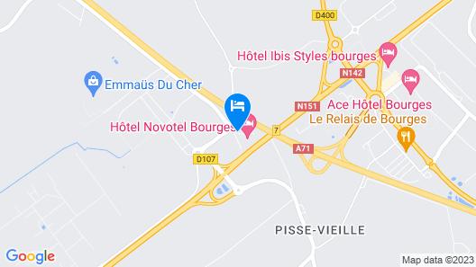 Novotel Bourges Map