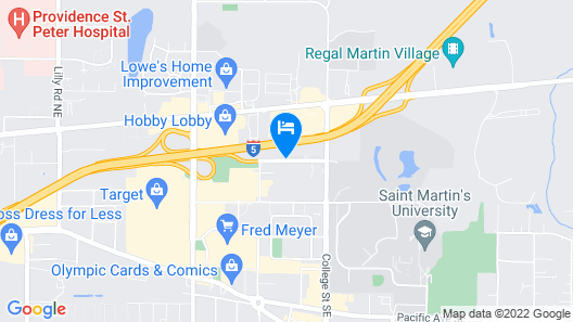Holiday Inn Express Hotel & Suites Lacey Map