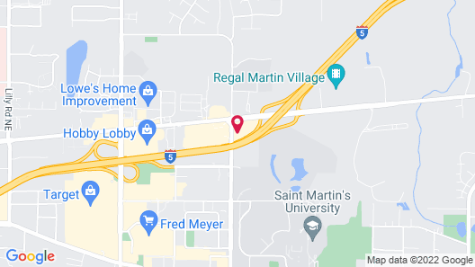 Quality Inn & Suites Lacey I-5 Map