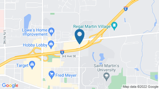Super 8 by Wyndham Lacey Olympia Area Map