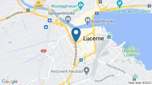 TOP Hotel Restaurant Anker Luzern Map