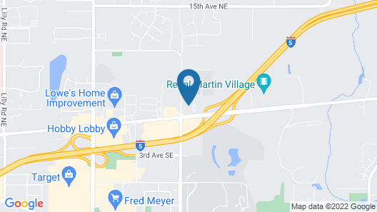 Comfort Inn Lacey - Olympia Map