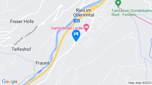 Hotel Riederhof Map