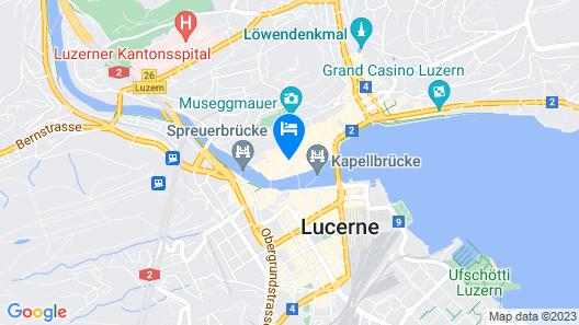Altstadt Hotel Le Stelle Luzern Map