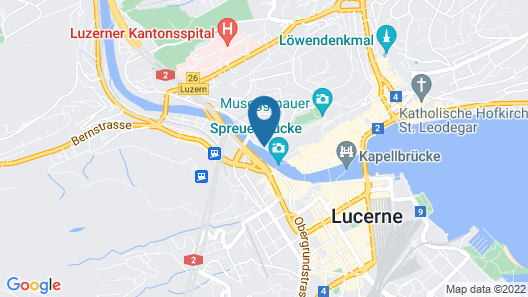 THE TOURIST CITY & RIVER HOTEL LUCERNE Map