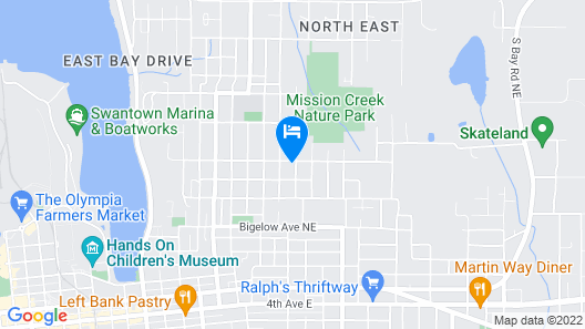 Beautiful Northeast Olympia Cottage Map