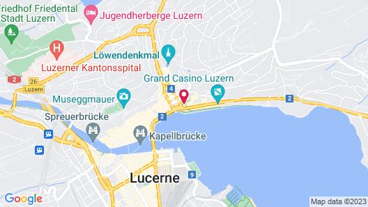 Hotel Rebstock Luzern Map