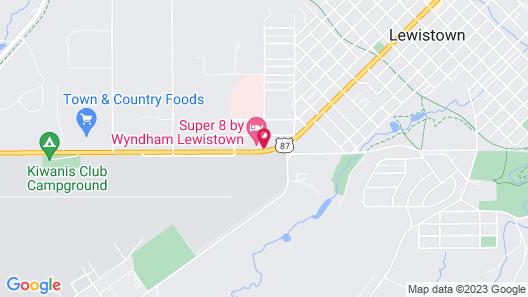 Super 8 by Wyndham Lewistown Map