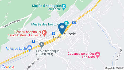 Guesthouse Le Locle Map