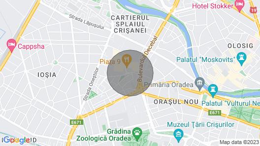 Deluxe 2 Bedroom Oradea Apartament Map
