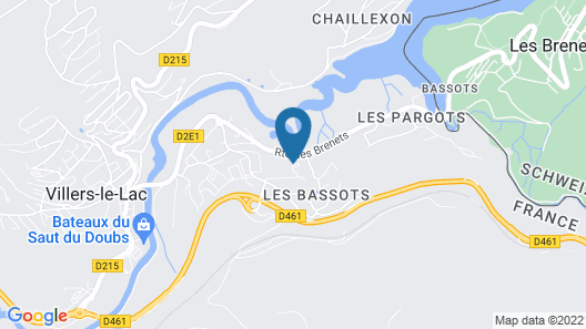Chambres Odoubs Map