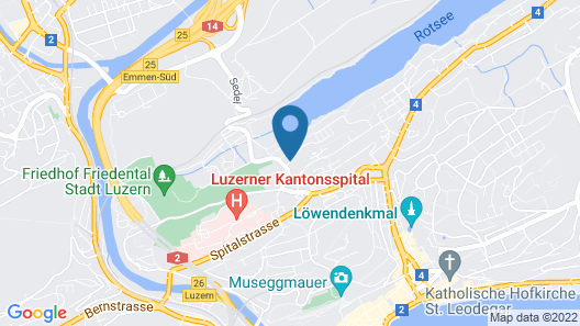 Youth Hostel Luzern Map