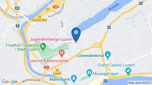 Youth Hostel Luzern Map