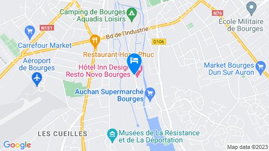 Hotel Inn Design Bourges Resto Novo Map