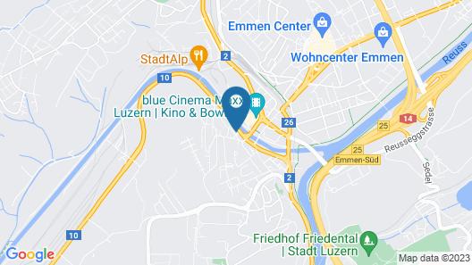 Anstatthotel.ch Luzern Map
