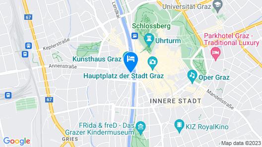 Grand Hôtel Wiesler Graz Map