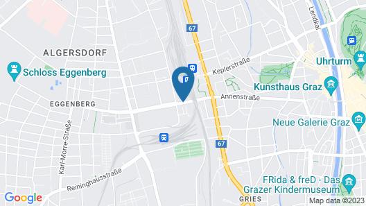 a&o Graz Hauptbahnhof Map
