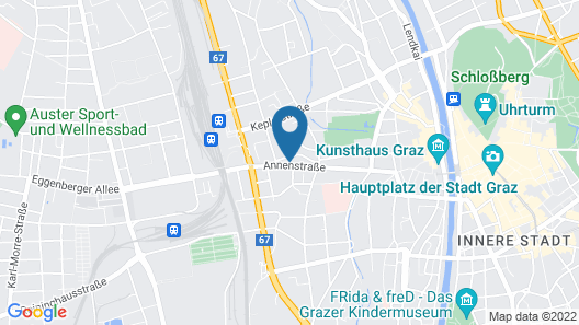 Hotel B&B Graz Hauptbahnhof Map