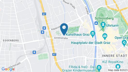 Central Graz Apartments by Paymán Club Map