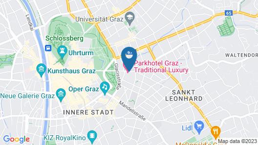 Parkhotel Graz - Traditional Luxury Map