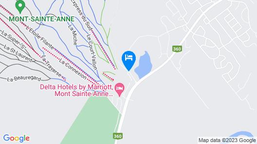 Hébergement Mont-Sainte-Anne Map