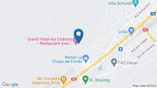 Grand Hôtel Les Endroits Map