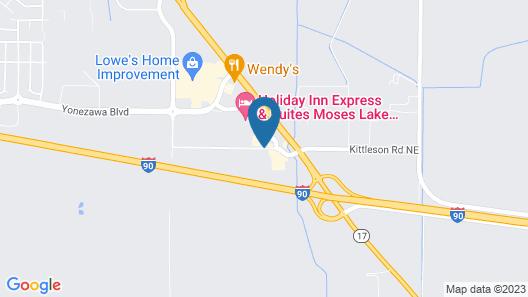 Comfort Suites Moses Lake Map