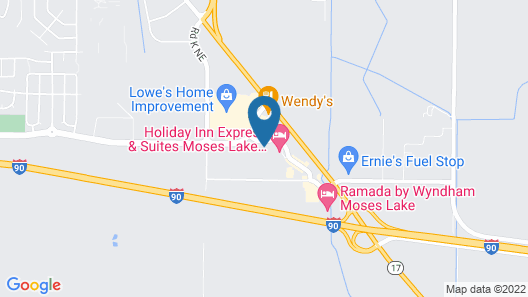 Holiday Inn Express And Suites Moses Lake, an IHG Hotel Map