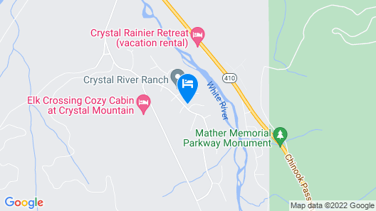 Elk Corral Cabin-easy Access To Crystal and Mt. Rainier Map
