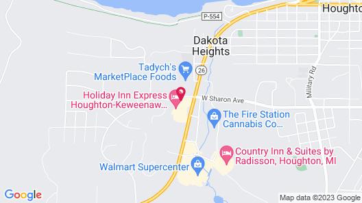 Holiday Inn Express Houghton-Keweenaw, an IHG Hotel Map
