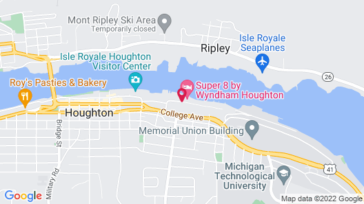 Super 8 by Wyndham Houghton Map