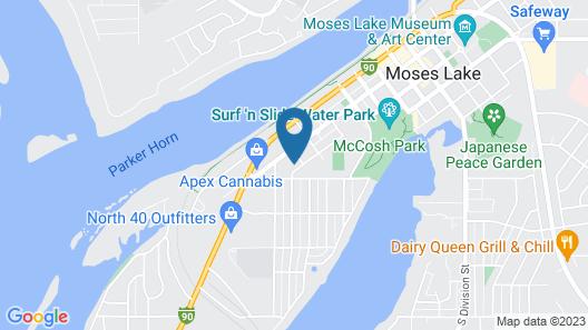 Basics 90's Apartment Downtown Moses Lake Map