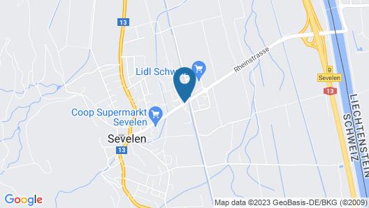 b_smart motel Sevelen Map
