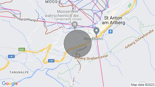 Holiday Flats Appart Fliana, St. Anton am Arlberg Map