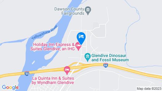 OYO Hotel Glendive - Yellowstone River Map
