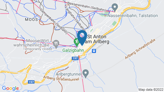 Skihotel Galzig Map