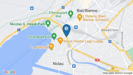 City Hotel Biel Bienne Map