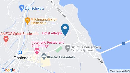 Hotel Allegro Einsiedeln Map