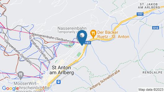 Chalet in St.Anton near ski slopes Map