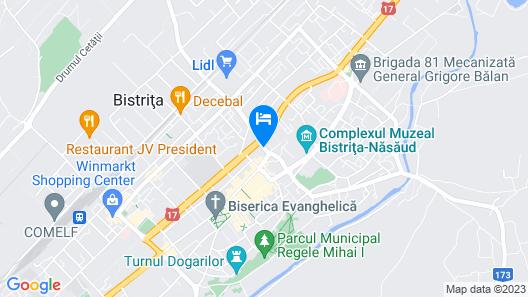 Hotel Coroana de Aur Map
