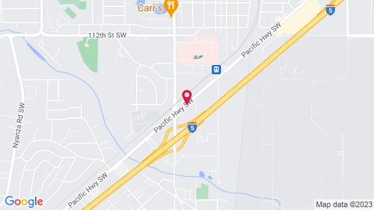 Holiday Inn Express Tacoma South Lakewood Map