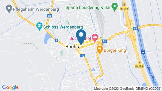 flexy.motel Buchs by b_smart Map